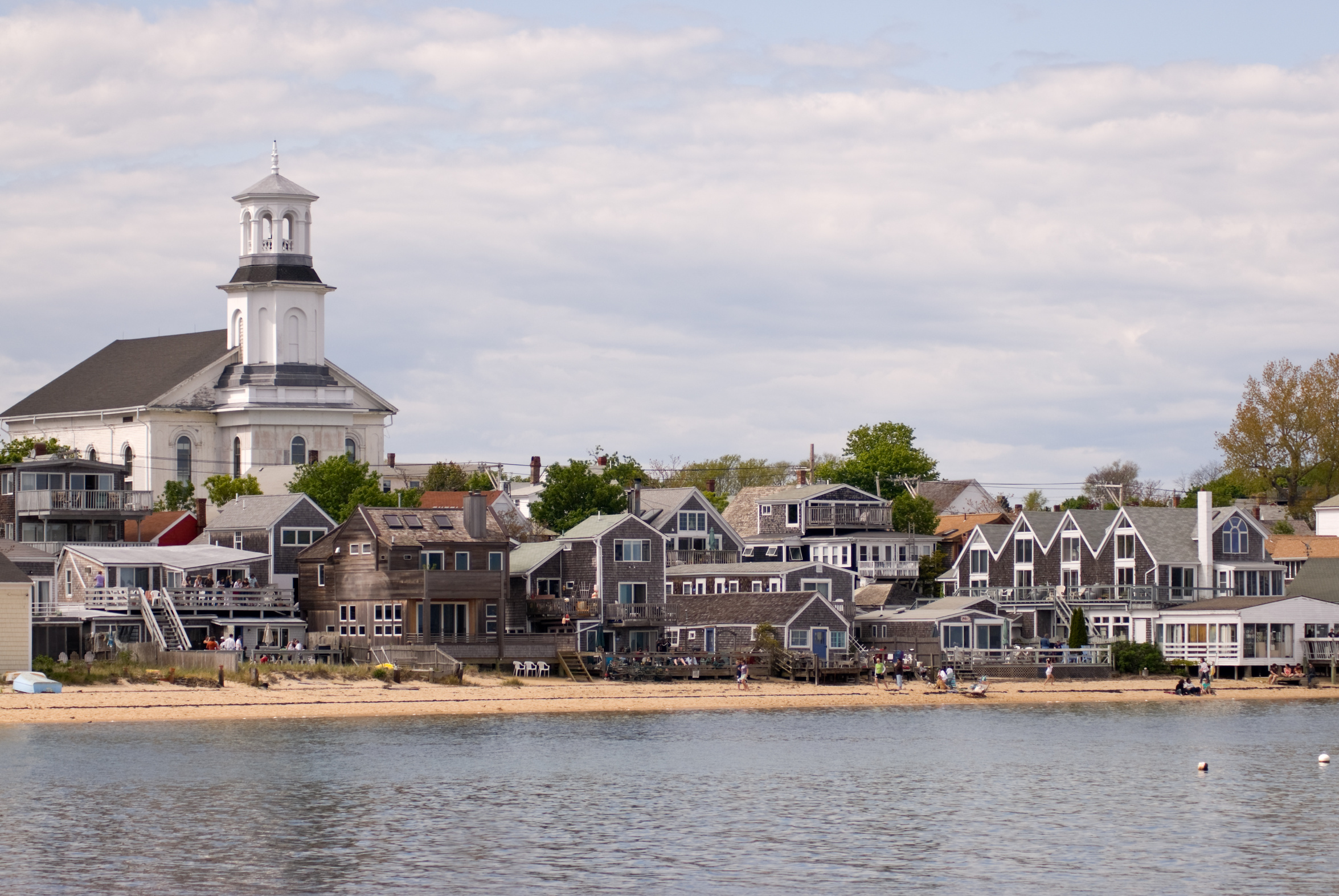 Beachfront houses in Provincetown, Cape Cod